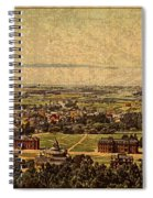 Aerial View Of Berkeley California In 1900 On Worn Distressed Canvas Spiral Notebook