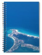 Aerial View Of Cancun Spiral Notebook