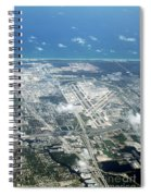 Aerial View Of Fort Lauderdale Airport. Fll Spiral Notebook