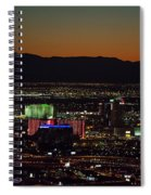 Aerial View Of Las Vegas City Spiral Notebook