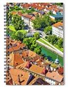 Aerial View Of Ljubljana Green River Spiral Notebook