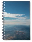 Aerial View Of Mountain Formation With Low Clouds During Daytime Spiral Notebook