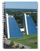 Aerial View Of Office Buildings Spiral Notebook