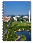 Aerial View Of The National Mall And Washington Monument Spiral Notebook