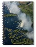 Aerial View Of Victoria Falls With Bridge Spiral Notebook