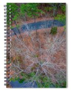 Aerial View Over Wooded Forest And Road Spiral Notebook