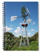Aeromotor Windmill Spiral Notebook