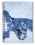 Afghan Hound-blue Spiral Notebook