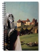Afghan Hound-falconer And Castle Canvas Fine Art Print Spiral Notebook