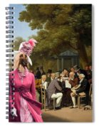 Afghan Hound-politicians In The Tuileries Gardens  Canvas Fine Art Print Spiral Notebook