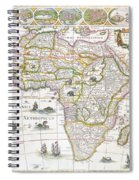 Africa Nova Map Spiral Notebook