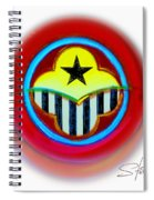 African American Button Spiral Notebook
