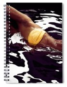 African American Woman In Bikini Lying In Black Water Spiral Notebook