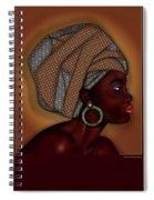 African Beauty Spiral Notebook