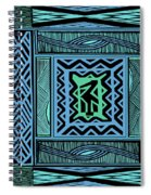 African Blue Bird Spiral Notebook