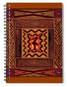 African Collage Rust Spiral Notebook