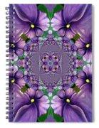 African Violet Wave Spiral Notebook