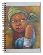 African Woman Portrait- African Paintings Spiral Notebook