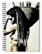 African Woman With Basket Spiral Notebook