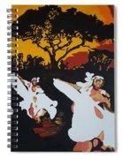 Afro Carib Dance Spiral Notebook