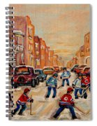 After School Hockey Game Spiral Notebook