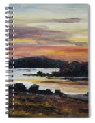 After Sunset At Lake Fleesensee Spiral Notebook