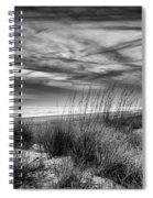 After Sunset In B And W Spiral Notebook