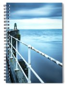 After The Shower Over Whitby Pier Spiral Notebook
