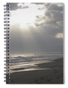 After The Storm - Frisco Pier - Outer Banks Nc Spiral Notebook