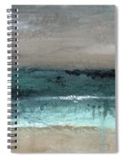 After The Storm 2- Abstract Beach Landscape By Linda Woods Spiral Notebook