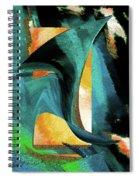 After The War Abstract Spiral Notebook