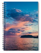 Afterglow On The Lakeshore Spiral Notebook