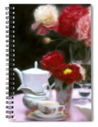 Afternnon Tea With Peonies Spiral Notebook