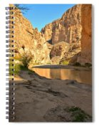 Afternoon At Boquillas Canyon Spiral Notebook