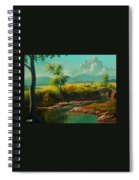 Afternoon By The River With Peaceful Landscape L A S Spiral Notebook