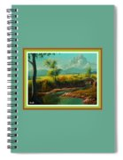 Afternoon By The River With Peaceful Landscape L A S With Decorative Ornate Printed Frame. Spiral Notebook
