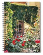 Afternoon In The Rose Garden Spiral Notebook