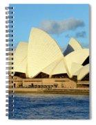 Afternoon Light On The Sydney Opera House Spiral Notebook