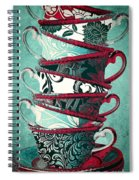 Afternoon Tea Aqua Spiral Notebook