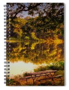 Afternoon View Argyle Lake Illinois Spiral Notebook