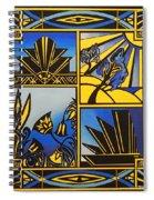 Art Deco In Blue Spiral Notebook