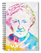Agatha Christie Watercolor Tribute Spiral Notebook