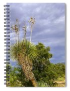 Agave Cactus And A Purple Sky Spiral Notebook