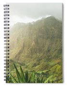 Agave Plants And Rocky Mountains. Santo Antao. Spiral Notebook