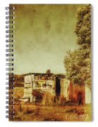 Aged Australia Countryside Scene Spiral Notebook