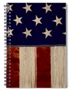 Aged Rustic American Flag Spiral Notebook