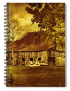 Aged Rustic Beauty Spiral Notebook