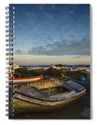 Aging Boats On Trocadero Pipe Puerto Real Cadiz Spain Spiral Notebook