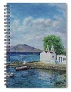 Agios Ioannis Beach, Mykonos Greece Spiral Notebook