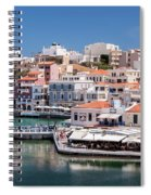 Agios Nikolaos Lagoon Entrance Spiral Notebook